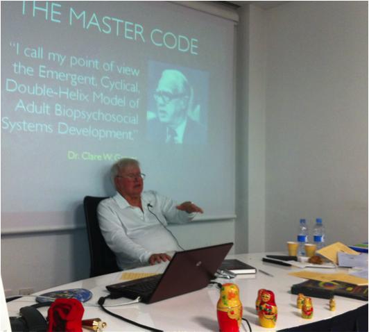 Picture 2: Don Beck delivering the SDi workshop Level 1 centrification