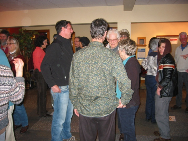 Figure 2: Tim (on left in black shirt and blue pants) with Workshop Participants in Bellingham, Washington, USA, Feb. 2013