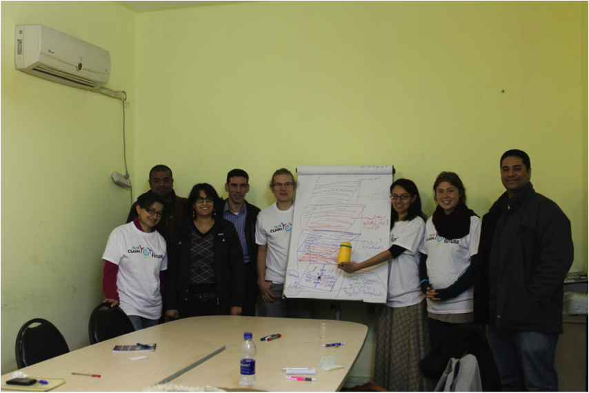 "Fig. 4: The small Group ""Integral Politics"" and Members form the EDA after  a successful ""Intervention Workshop"""