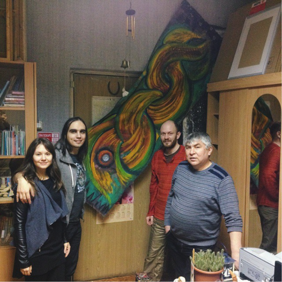 At the office of Izhevskian artists-shamans Uri Kuchyran and Zhon-Zhon Sandyr.