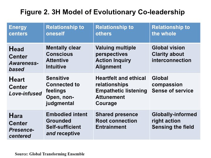 Figure 2 Alain Gauthier Exploring the Triple Impact of Evolutionary Co-leadership