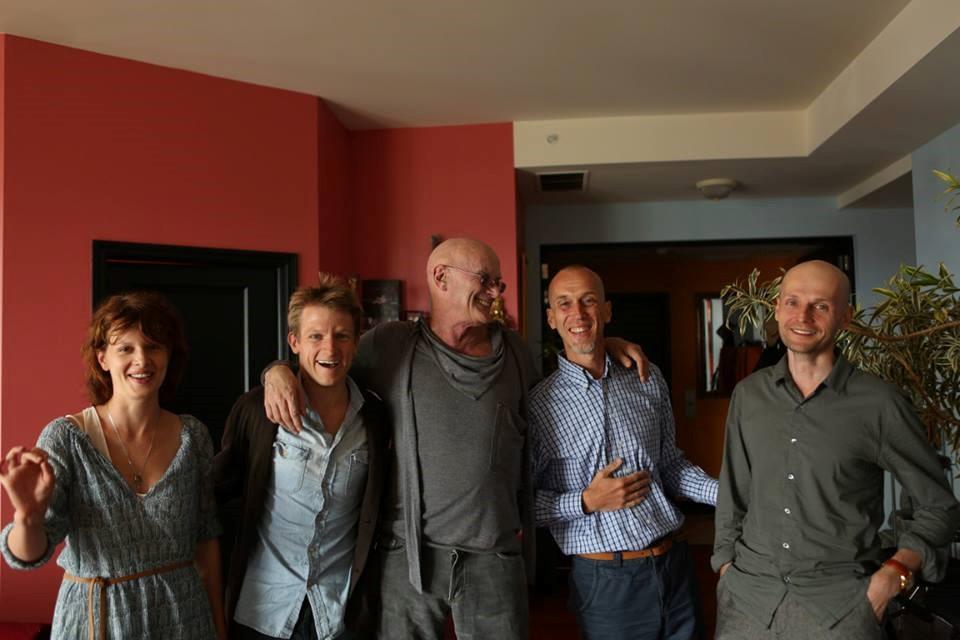 Left to Right: Karolina Gruszka (actress), Cazimir Liske (actor), Ken Wilber (Integral philosopher), Alexander Nariniani (Integral publisher), Ivan Vyrypaev (playwright)—during a visit to Ken Wilber's Loft in August 2013