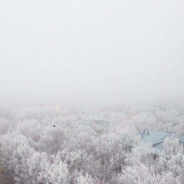 Nizhny Novgorod in snow