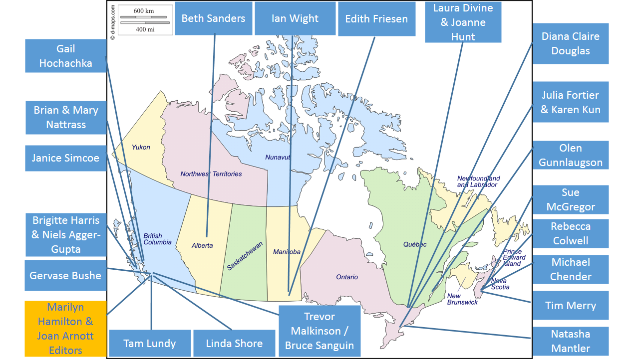 Canadian Map Author Locations Integral Leadership Review